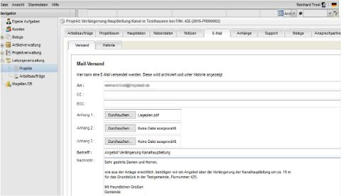 Mail-Versand Projekt
