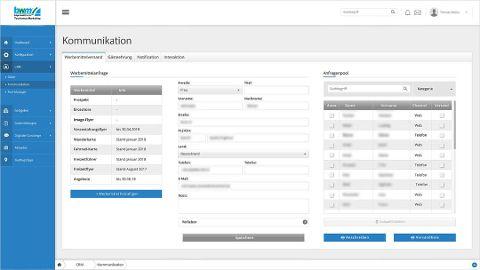 Infomaterial: Zentrale Verwaltung von Anfragen mit automatisierter Erstellung von Packlisten und Anschreiben